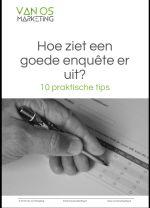 Van Os Marketing - omslag whitepaper - Hoe ziet een goede enquête er uit?