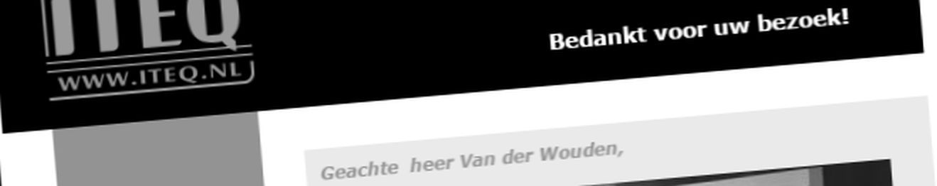 Bedank e-mail ITEQ